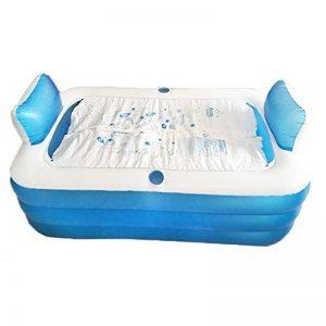 SESO UK-Tub Baignoire gonflable Double Adulte Portable Confortable Confortable Baril De Bain Spa Grande Pliante Maison Baignoire Chaude de la marque SESO UK-Tub image 0 produit
