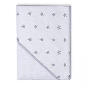 Sevira Kids - Sortie de bain - Cape de bain - Extra Large Coton 400 g/m2 Stars Blanc de la marque Sevira-Kids image 0 produit
