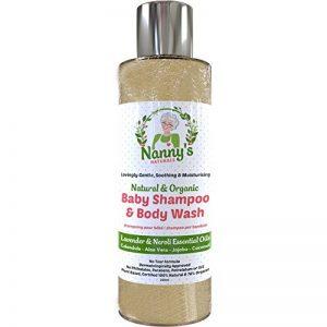 Shampoing & Gel Nettoyant pour le Corps Biologique pour Bébé | Lavande & Néroli| Savon pour Bébés & Enfants 100% Naturel et 76% Bio de la marque Nannys Naturals image 0 produit