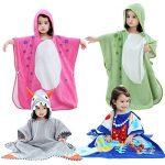 Shnna enfants Plage Serviette de bain Serviette de bain à capuche Motif animal Coton Peignoir de bain pour garçons filles 0–7ans de la marque SHANNA image 3 produit