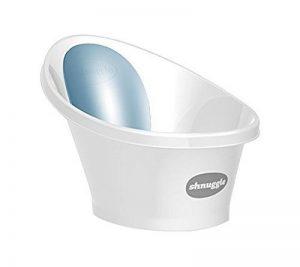 Shnuggle Baignoire pour enfant avec un dossier en mousse bleue de la marque Shnuggle image 0 produit