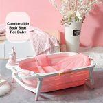 Siège de bain bébé tapis de bain La baignoire antidérapante réglable de douche de bébé s'assoient la maille pour le nouveau-né de la marque Autbye image 3 produit