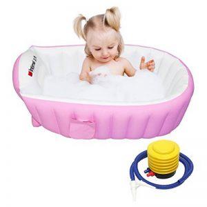 Signstek Baignoire Gonflable, Piscine Gonflable, Bassine pour Enfant et Bébé (Rose) de la marque Signstek image 0 produit