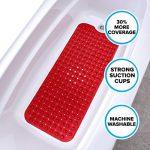 SlipX Solutions Extra Long Tapis de Bain ajoute de la Traction antidérapantes pour baignoires et douches - 30% Plus Longtemps Que Standard Tapis. (200 ventouses, 100 cm de Long - Rouge) de la marque Slip-X-Solutions image 4 produit