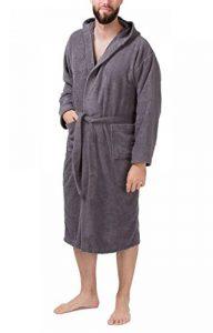 SLOUCHER - Peignoir Homme en Tissu éponge, Peignoir de Sauna avec Capuche 100% Coton de la marque SLOUCHER image 0 produit