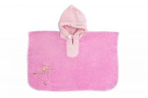 Slumbersac - Poncho/Sortie de bain/Serviette pour enfants 62 x 47 cm- Broderie fée - rose de la marque Slumbersac image 0 produit