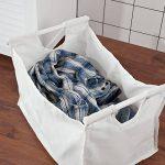 SoBuy® FSR40-W Banc de rangement Panier à linge avec sac amovible - Charge maximum: 90kg de la marque SoBuy image 4 produit