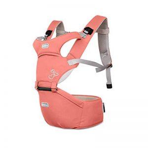 SONARIN Front Premium Hipseat Porte-bébé Baby Carrier,Multifonctionnel, Ergonomique,100% Coton, Boucle Rotative à Papillon, 6 positions de transport, Sûr et Confortable,cadeau idéal(Rose) de la marque SONARIN image 0 produit
