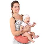 SONARIN Front Premium Hipseat Porte-bébé Baby Carrier,Multifonctionnel, Ergonomique,100% Coton, Boucle Rotative à Papillon, 6 positions de transport, Sûr et Confortable,cadeau idéal(Rose) de la marque SONARIN image 3 produit