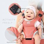 SONARIN Front Premium Hipseat Porte-bébé Baby Carrier,Multifonctionnel, Ergonomique,100% Coton, Boucle Rotative à Papillon, 6 positions de transport, Sûr et Confortable,cadeau idéal(Rose) de la marque SONARIN image 4 produit