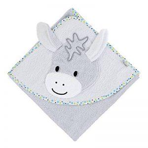 Sterntaler Serviette de bain à motif Erik avec capuche, Âge: à partir de 0 Mois, 100 x 100 cm, Gris de la marque Bellagenda image 0 produit