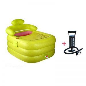 Sunjun& Petite Baignoire Gonflable Baignoires pour Adulte pour Adultes Baignoires Pliantes pour plomberie Baignoires en Plastique (Couleur : Vert) de la marque Sunjun image 0 produit