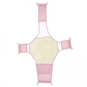 Support de Siège de Baignoire Bébé Infantile Réglable Maille Douche Croix de Sécurité - Rose de la marque Générique image 0 produit