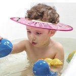 Supvox Bonnet de Douche Bébé Shampooing Bain Visière Bouclier Oreille de Bain Réglable Protéger (Rose) de la marque Supvox image 2 produit