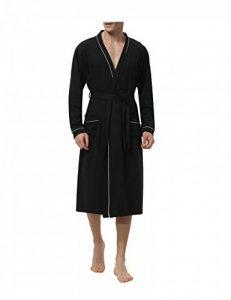 Sykooria Hommes Peignoirs de Bain en Tricot 100% Coton Casual l'hôtel Spa Sauna Vêtements de Nuit avec 2 Poches Manches Longues de la marque Sykooria image 0 produit