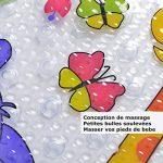 Tapis pour Enfants non slip 69x40cm Tapis de Bain Bebe avec Ventouses Massage Tapis de Baignoire blanc antidérapant Matériau TPR Tapis de douche en caoutchouc Tapis de salle de bain de la marque hollylife image 3 produit