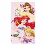 Theonoi Lot de 4 Serviettes pour Enfant Comprenant 1 Serviette de Bain + 1 Serviette de Toilette + 2 Serviettes en Coton - Cadeau pour Fille Disney Princess B de la marque Theonoi image 1 produit