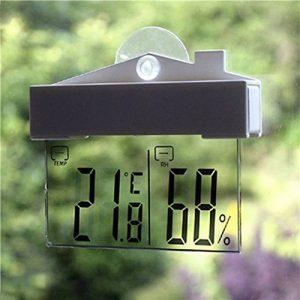 Thermomètre hydromètre numérique d'intérieur et d'extérieur, station météo à ventouse par FomCcu de la marque FomCcu image 0 produit