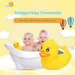 Thermomètre bain bébés,Canard de bain Thermomètre de bain Jouet de bain Thermomètre Numérique avec alarme LED Convient Pour Baignoire/Piscine/Intérieur de la marque Charlemain image 3 produit