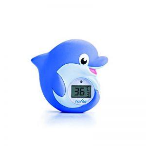 Thermomètre Bain et Chambre 2 en 1 Nuvita 1006 – LED Rouge Trop Chaud | Bleue Trop Froid - Jouet de Bain Thermometre Digital en Forme de Dauphin - Mise en Veille Auto - Norme EN71 - Marque EU de la marque Nuvita image 0 produit