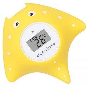 Thermomètre de bain et de chambre Acculove pour bébé,thermometre bain, thermomètre de bain flottant pour baignoire et piscine, dessin de poisson jaune Outlook, jouet sûr pour bébés, nouveau-nés de la marque acculove image 0 produit