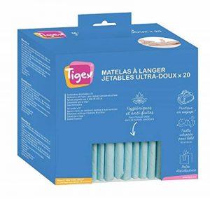 Tigex Protections Jetables pour Matelas à Langer, Blanc, Lot de 20 de la marque Tigex image 0 produit