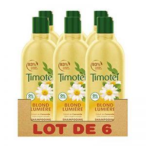 Timotei Blond Lumière Shampooing pour Cheveux Blonds, Extrait de Camomille, Flacon de 300ml - Lot de 6 de la marque Timotei image 0 produit