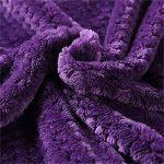 Tina Peignoir Long en Flanelle Unisexe Robe de Chambre zippée à Manches Longues Peignoir Long à Manches Longues, XL, Violet de la marque Tina image 4 produit