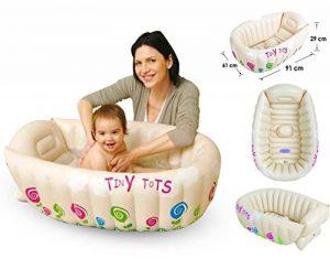 Tiny Tots -Baignoire gonflable pour bébé, portable, pratique pour les voyages, sans phtalate de la marque MTS image 0 produit
