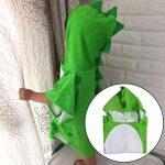 TOOGOO Bain De l'enfant Serviette De Bain des Enfants Plage à Capuchon Poncho De Natation Motif Dinosaure (Vert + Blanc 55 Cm X 110 Cm) de la marque TOOGOO image 1 produit