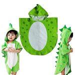 TOOGOO Bain De l'enfant Serviette De Bain des Enfants Plage à Capuchon Poncho De Natation Motif Dinosaure (Vert + Blanc 55 Cm X 110 Cm) de la marque TOOGOO image 2 produit