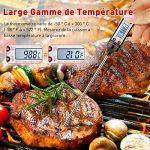 TOPELEK Thermomètres Cuisine, Thermometre Cuisson, Thérmo-Sonde de Cuisson, 5 Secondes pour Afficher les Chiffres,Écran LCD, avec Bouton ° C /° F Grill, Barbecue, BBQ, Steak, Bonbons, Lait, Eau Bain de la marque TOPELEK image 4 produit