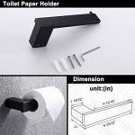 Turs N1SERIES-P Support de papier toilette en acier inoxydable pour salle de bain, acier inoxydable, Noir, 4-Piece B Set de la marque TURS image 4 produit