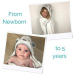 Tutti Bimbi Ensemble de grande serviette à capuche en bambou biologique certifié pour baignoire de bébé de la marque Tutti Bimbi image 4 produit