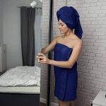 Twinzen ⭐ Lot Serviette de Bain (6 pièces), 100% Coton, sans Produits Chimiques - 4 x Essuie Main (50 x 80 cm) et 2 x Drap de Bain (140 x 70 cm) - Oeko TEX - Serviettes de Bain Douces et Absorbantes de la marque Twinzen image 4 produit