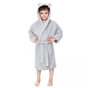 Twinzen ⭐Peignoir Enfant Garçon et Fille, 100% Coton, Certifié sans Produits Chimiques - Robe de Chambre, Sortie de Bain, Absorbant de la marque Twinzen image 0 produit
