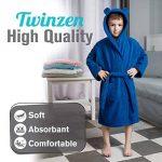 Twinzen ⭐Peignoir Enfant Garçon et Fille, 100% Coton, Certifié sans Produits Chimiques - Robe de Chambre, Sortie de Bain, Absorbant de la marque Twinzen image 1 produit