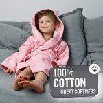 Twinzen ⭐Peignoir Enfant Garçon et Fille, 100% Coton, Certifié sans Produits Chimiques - Robe de Chambre, Sortie de Bain, Absorbant de la marque Twinzen image 3 produit