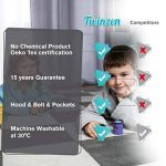 Twinzen ⭐Peignoir Enfant Garçon et Fille, 100% Coton, Certifié sans Produits Chimiques - Robe de Chambre, Sortie de Bain, Absorbant de la marque Twinzen image 4 produit