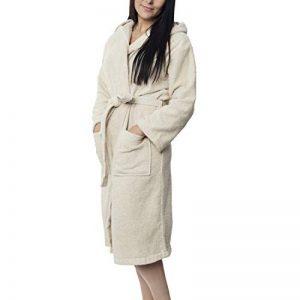 Twinzen ⭐ Peignoir Femme Certifié sans Produits Chimiques, 100% Coton - Peignoir de Bain Eponge Coton avec Capuche, 2 Poches, Ceinture - Sortie de Bain Douce, Absorbante et Confortable de la marque Twinzen image 0 produit