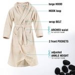 Twinzen ⭐ Peignoir Femme Certifié sans Produits Chimiques, 100% Coton - Peignoir de Bain Eponge Coton avec Capuche, 2 Poches, Ceinture - Sortie de Bain Douce, Absorbante et Confortable de la marque Twinzen image 1 produit