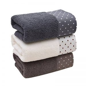 Un ensemble de 3 serviettes en coton doux lavables en machine de la marque Luwu-Store image 0 produit