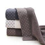 Un ensemble de 3 serviettes en coton doux lavables en machine de la marque Luwu-Store image 2 produit