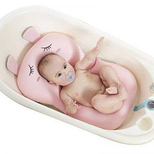 UNAOIWN Coussin de bain pour bébé, matelas de bain flottant, siège de coussin anti-dérapant pour nouveau-né, coussin de bain bébé pour baignoire (Rose, lapin) de la marque UNAOIWN image 0 produit