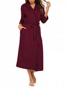 UNibelle Femme Peignoir de Bain Longue Robe de Chambre en Polaire Manches Longues Col V S-XXL de la marque UNibelle image 0 produit