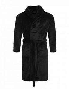 UNibelle Peignoir de Bain Homme Longue Robe de Chambre en Polaire Col V Manches Longues S-XL de la marque UNibelle image 0 produit