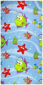 UniqueTowel Serviette de Toilette pour Enfant Motif mer et Animaux Marins 50 x 100 cm de la marque UniqueTowel image 0 produit