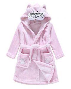 Unisex Enfants Mignon Animal Peignoir Plage Capuche Serviette Soirée De Bain Robe De Chambre de la marque DianShaoA image 0 produit