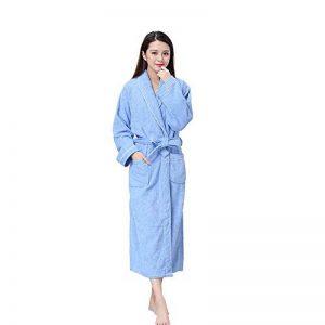 Unisexe 100% Coton col châle Longue Serviette Peignoir Peignoir Robe avec Deux Poches et Ceinture de la marque Yifen image 0 produit
