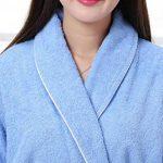 Unisexe 100% Coton col châle Longue Serviette Peignoir Peignoir Robe avec Deux Poches et Ceinture de la marque Yifen image 2 produit